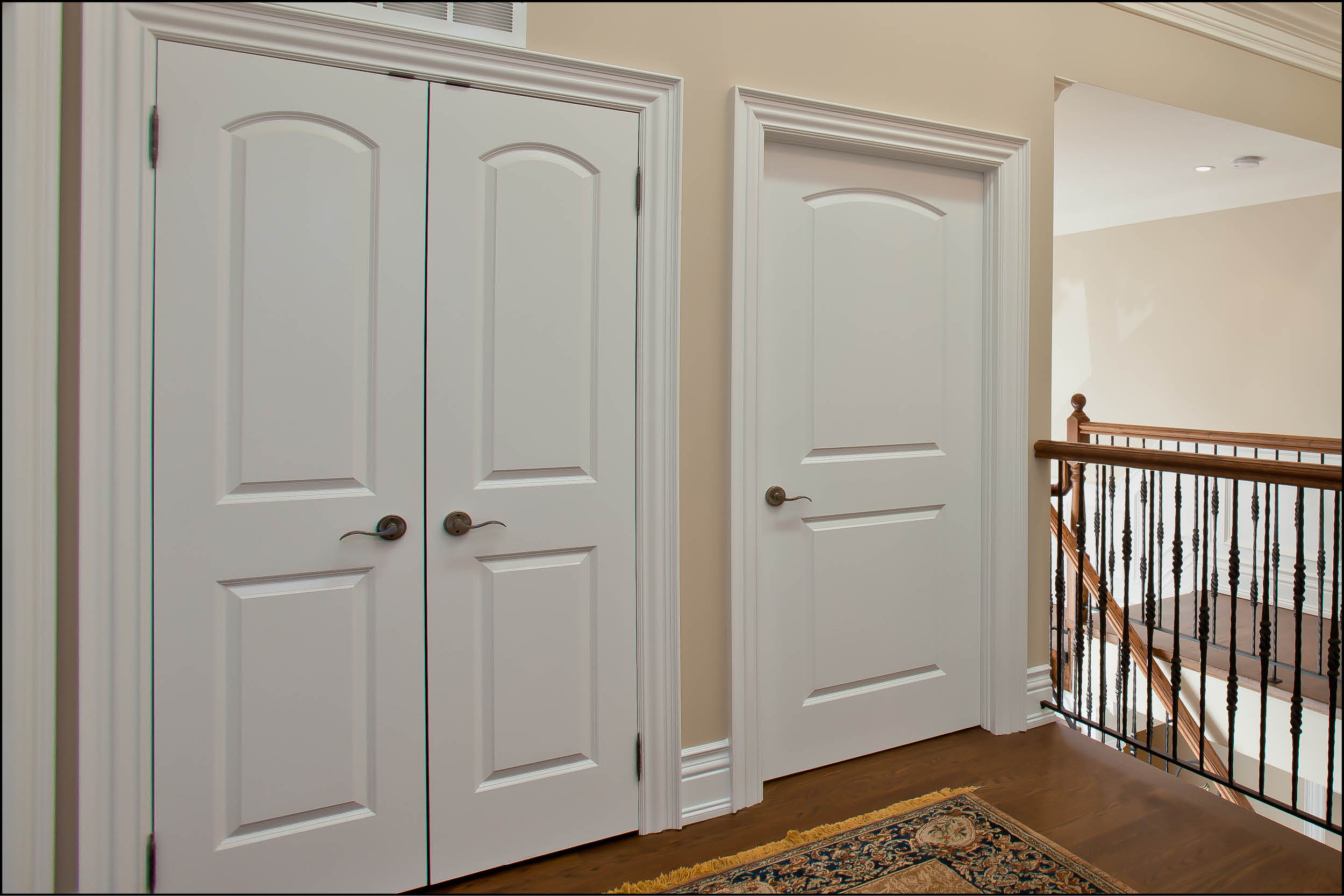 with way doors how interior door flat to panel flush moulding an inexpensive easy update