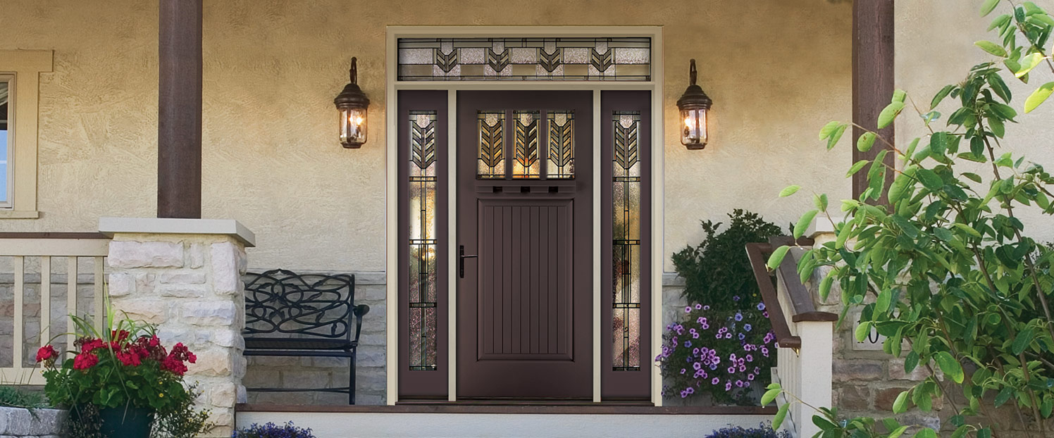 Exterior doors loves park il kobyco replacement for Therma tru front door
