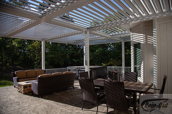 Kobyco Pergola Louvered Roofs, Retractable Awnings, Sundance Louvered Roofs, Rain-Out, Kobyco Sundance Louvered Roofs, Louvered Roofs, Retractable Louvered Roofs from Kobyco Replacement Windows and Doors in Wisconsin and Illinois