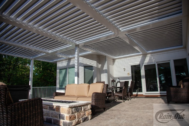 Kobyco Pergola Louvered Roofs, Retractable Awnings, Sundance Louvered Roofs, Rain-Out, Kobyco Sundance Louvered Roofs, Louvered Roofs, Retractable Louvered Roofs from Kobyco Replacement Windows and Doors Rockfod