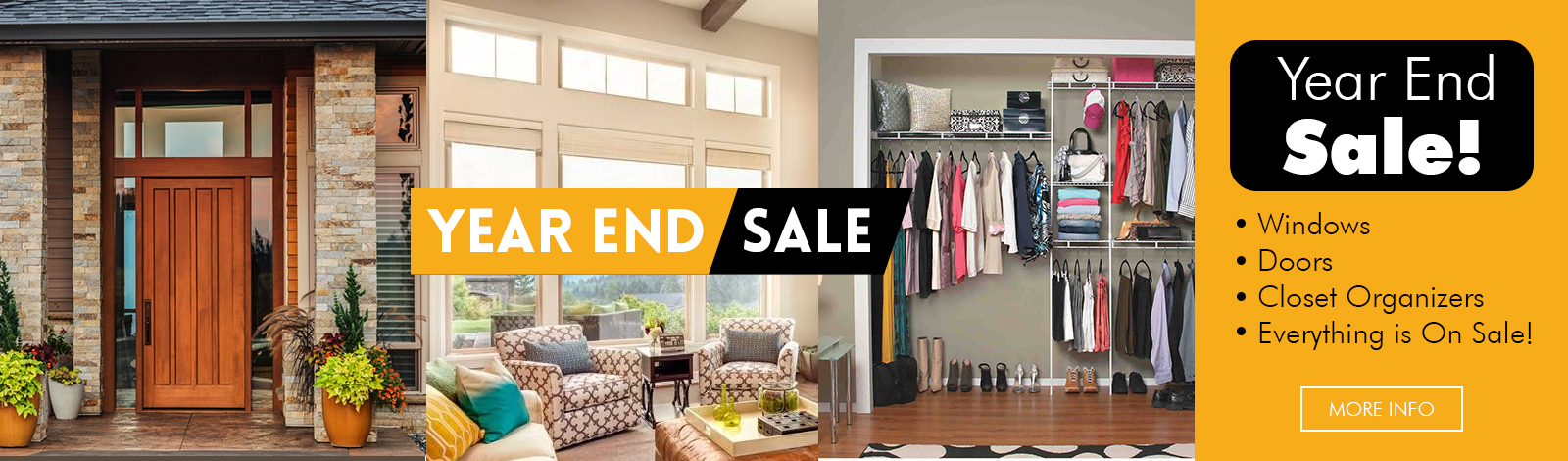 Kobyco Windows and Doors Year End Sale-Save on Replacement Windows, Interior and Exterior Doors, Closet Organizers, Retractable Awnings, Crown Molding, Pergola and Louvered Roofs