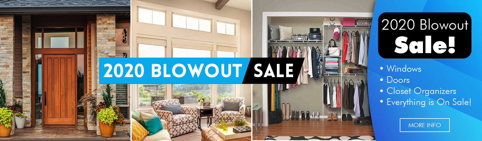 Kobyco Blowout Sale - Save money on Replacement Windows-Interior Doors-Exterior Doors-Closet Organizers-Crown Molding-Louvered Pergola-Awnings in Rockford IL